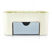Organizador de Mesa Multifuncional com 1 Gaveta Azul - Lifestyle - Jacki Design