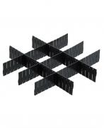 Divisória Organizadora para Gavetas - 5 Unidades - Preto - Future