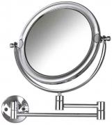 Espelho de Aumento Cromado de Parede s/luz - Doubler - CrysBel