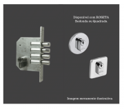 Fechadura Auxiliar - Cilindro 100mm - 4 pinos - 1410 - Quattro - Arouca