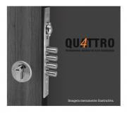 Fechadura de Alta Segurança com Trinco Rolete - Cilindro 80mm - 4 pinos - 4410TR - Quattro - Arouca