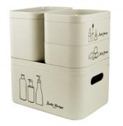 Kit Organizador Beauty Bege - 4 Peças - Jacki Design