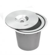 Lixeira de Embutir Clean Round em Aço inox - 8L - Tramontina