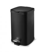 Lixeira em Aço carbono com Pedal e balde - 12L - Preta - Frame