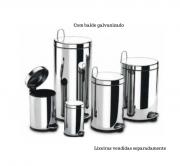 Lixeira Inox com pedal e balde - Decorline - Brinox
