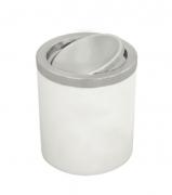 Lixeira Útil Basculante em Aço Inox - 5L - Branca - Tramontina