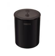 Lixeira Útil com Tampa em Aço Inox com revestimento especial a base de verniz - 5L - Black - Tramontina