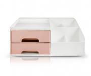 Organizador Multiuso de 2 gavetas Rosa - Jacki Design