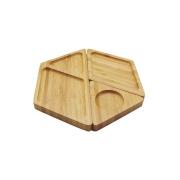 Petisqueira Hexagonal de Bambu - Desmontável - Oikos