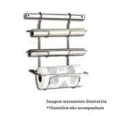 Suporte para Rolo Papel Toalha / Alumínio / PVC - Top Pratic - Brinox