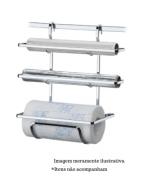 Suporte para Rolos de Papel Toalha/Alumínio/PVC - Cromado - Future
