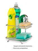 Suporte para Sabão/Detergente/Esponja com Ventosa - Cromado - Future