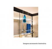 Suporte para Shampoo/Sabonete de Box com Gancho móvel - Perfezione -  Future