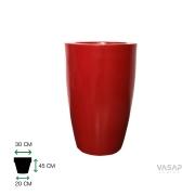 Vaso Cone Liso 45 - Vermelho Bordô - Vasap