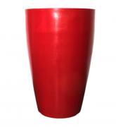 Vaso Cone Liso 55 - Vermelho Bordô - Vasap