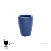 Vaso Vietnamita 31 - Azul Macaúba com Brilho - Vasap