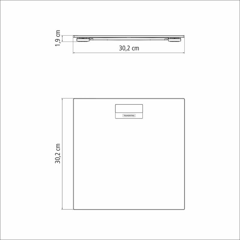 Balança Digital em Vidro com Antiderrapante Corporal -  150kg - Adatto - Tramontina
