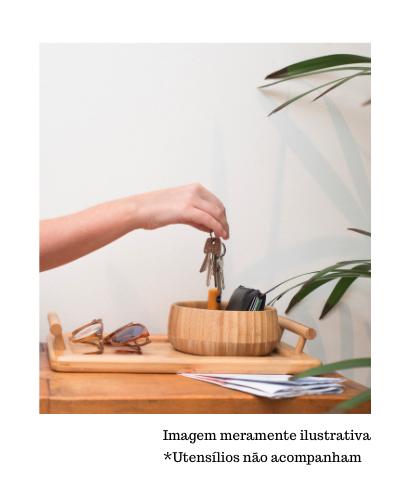 Bandeja Retangular de Bambu com Alças - Oikos