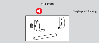 Barra Antipânico transversal PHA 2000  para Porta simples - Horizontal - 1 Ponto de fechamento — Dorma