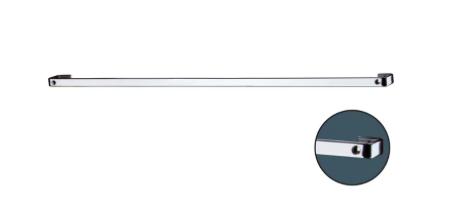 Barra de Piatina 60cm com 6 Ganchos - Cromado - Future