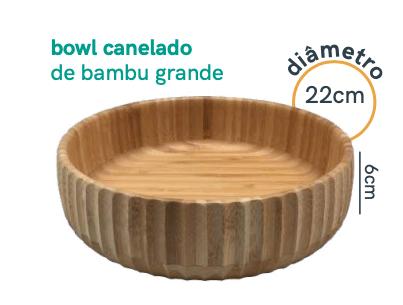 Bowl Canelado de Bambu - Grande - Oikos