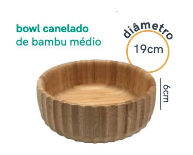 Bowl Canelado de Bambu - Médio - Oikos