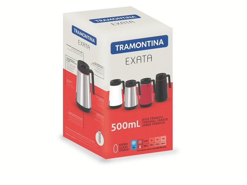 Bule Térmico em Aço Inox Preto - 500ml - Exata - Tramontina