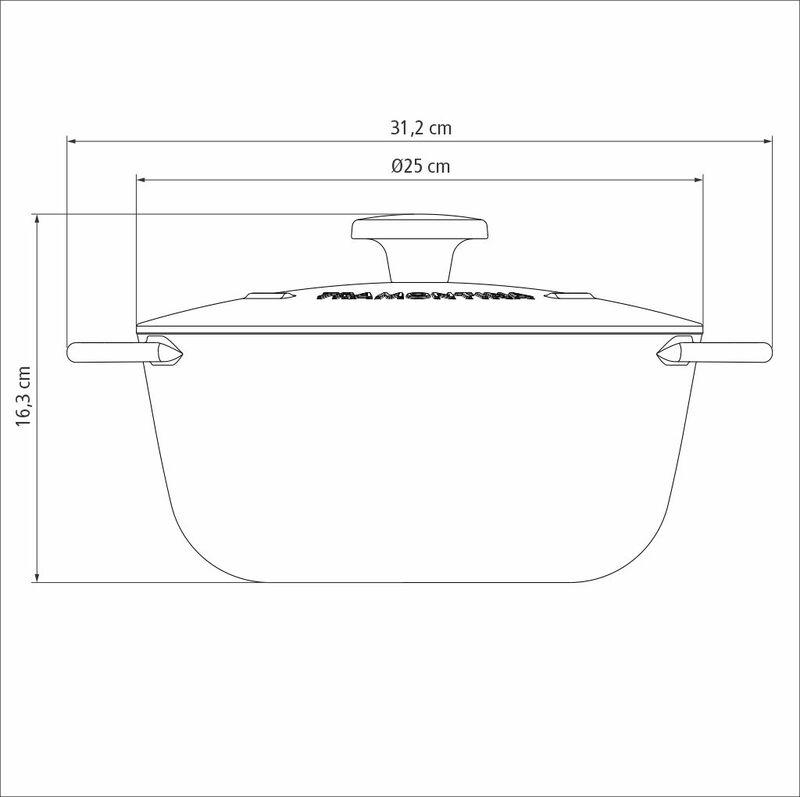 Caçarola em Ferro Esmaltado com Revestimento Antiaderente 24cm/4L Preto Trento -Tramontina