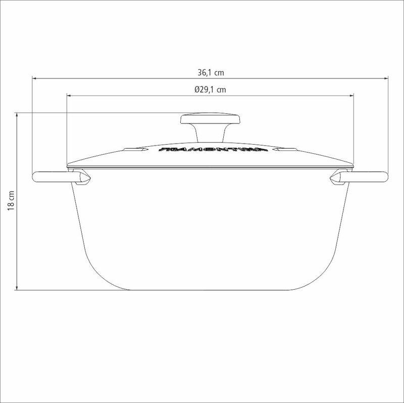 Caçarola em Ferro Esmaltado com Revestimento Antiaderente 28cm/6L Preto Trento -Tramontina