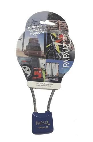 Cadeado com Cabo de Aço 30/790 Urban - Azul - Papaiz