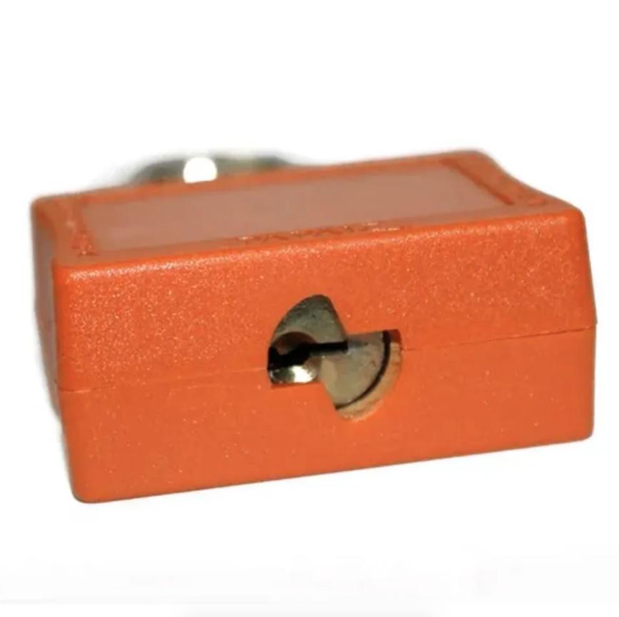Cadeado de Bloqueio 35/50 - Laranja Haste de Aço - Papaiz