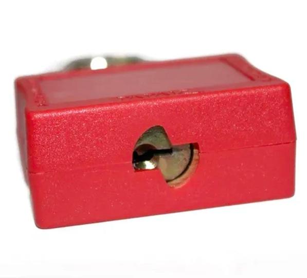 Cadeado de Bloqueio 35/50 - Vermelho Haste de Aço - Papaiz