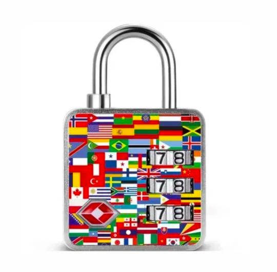 Cadeado TSA Segredo 3 Dígitos - Nações - Papaiz