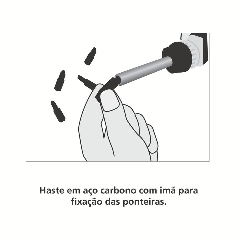 Chave de Fenda com Ponteiras 7 Peças - Basic - Tramontina