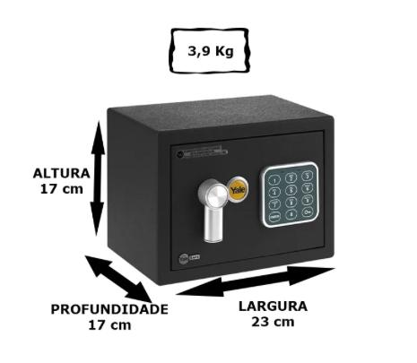 Cofre Digital Value Mini - Black - Yale