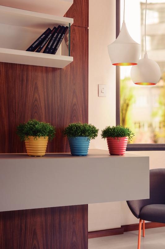 Conjunto Cachepôs/Vasos em Plástico Colorido 1,7 L/ 4 Peças - Tramontina