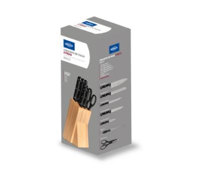 Conjunto de Facas com cepo madeira 8 peças - Daily - Brinox