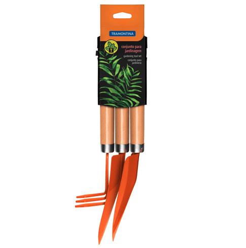 Conjunto para Jardinagem com cabo em Madeira - 3 peças - Tramontina