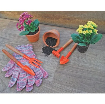 Conjunto para Jardinagem com cabo em Madeira - 4 peças - Tramontina
