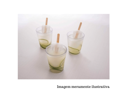 Copo cônico Casual  - 300mL - Cristal - Coza