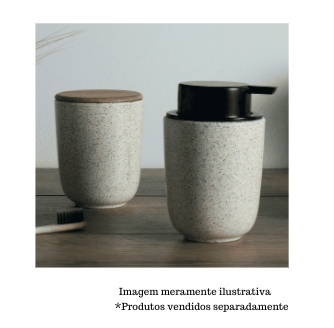 Dispenser Sabonete Líquido 200ml - Base Cerâmica Reativa Branca - Yoi