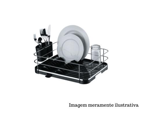 Escorredor de louças - Cromado com Preto - Originale - Future