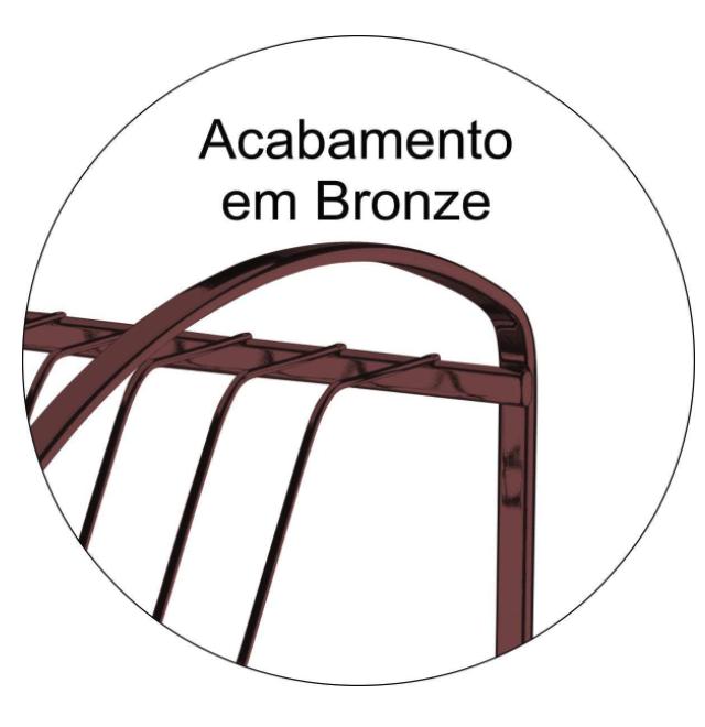 Escorredor de Louças duplo - Bronze - Capriccio - Future