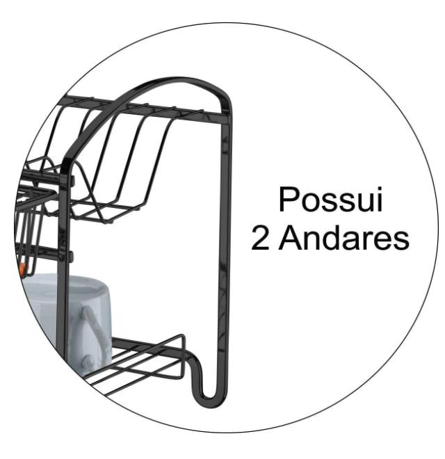 Escorredor de Louças duplo - Ônix - Capriccio - Future