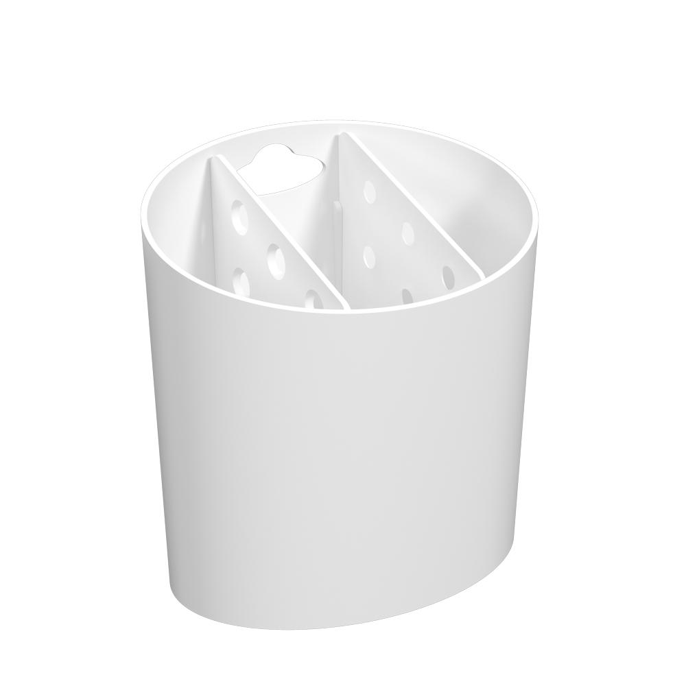 Escorredor de Talheres Oval Basic Branco - Coza