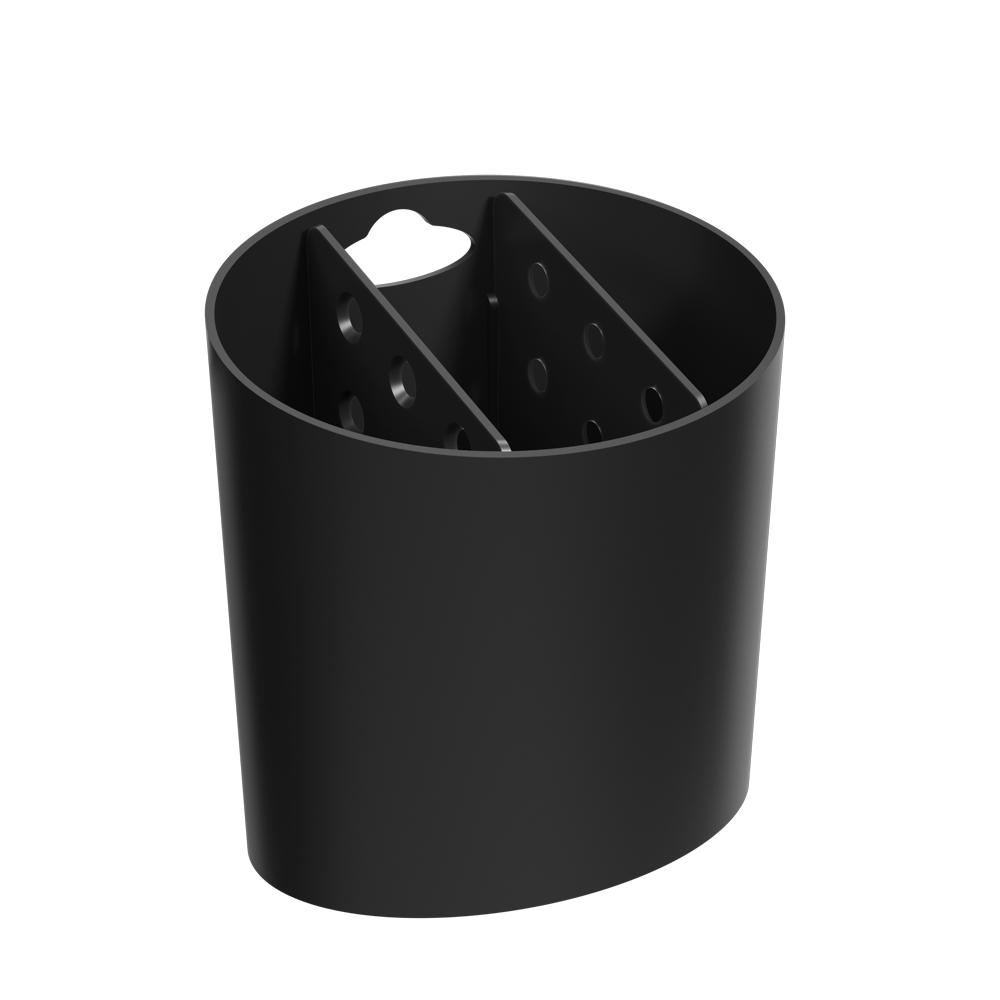 Escorredor de Talheres Oval Basic Preto - Coza