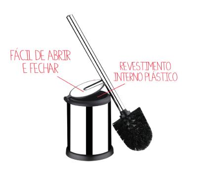 Escova para Banheiro Easy em Aço inox - Decorline - Brinox