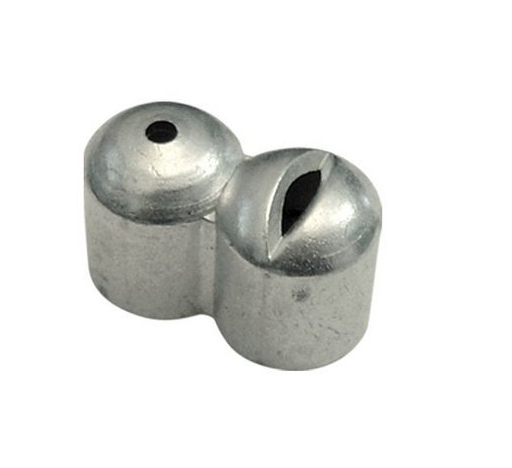 """Esguicho longo em Alumínio com espiga 1/2"""" - Jet Garden"""