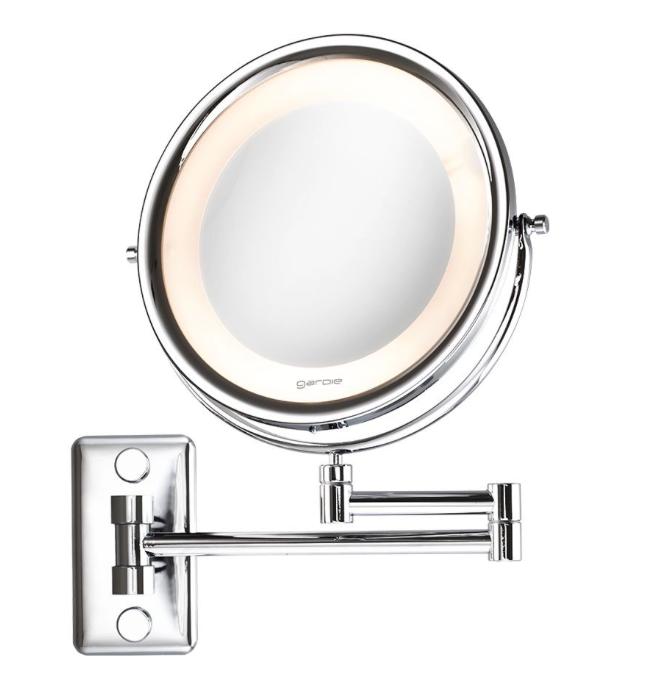 Espelho de Aumento Cromado de Parede com Luz - Bivolt - Mobile Lux - CrysBel