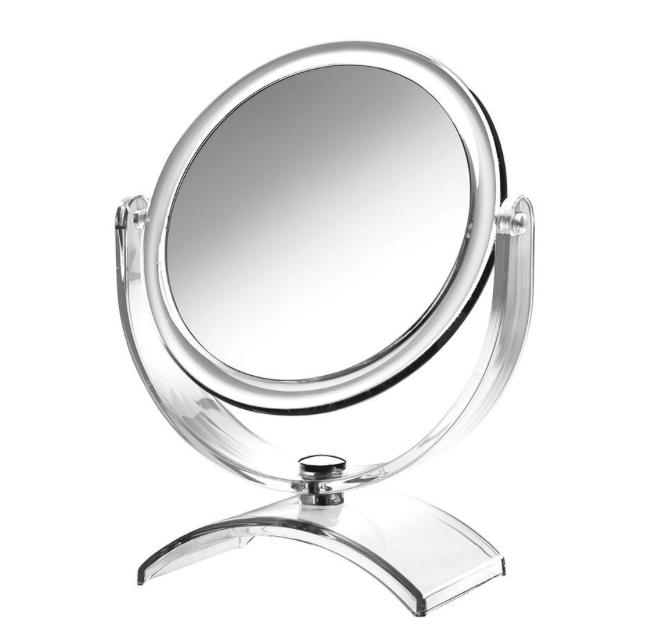 Espelho de Aumento de Mesa - Cristal - Miroir - CrysBel